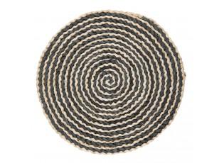 Hnědo černé kulaté prostírání - Ø 35 cm