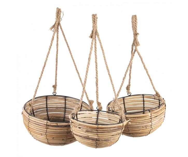 Sada 3 závěsných košíků - Ø 28*15 / 24*14 / 20*11  cm