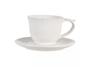 Krémový šálek s podšálkem Pure Line - Ø 15*8 cm / 0.12L