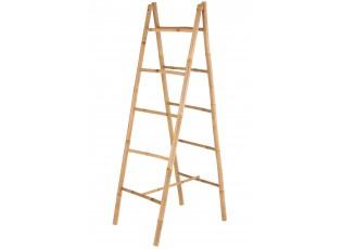 Dřevěný bambusový věšák na ručníky žebřík Double - 50*10*157 cm