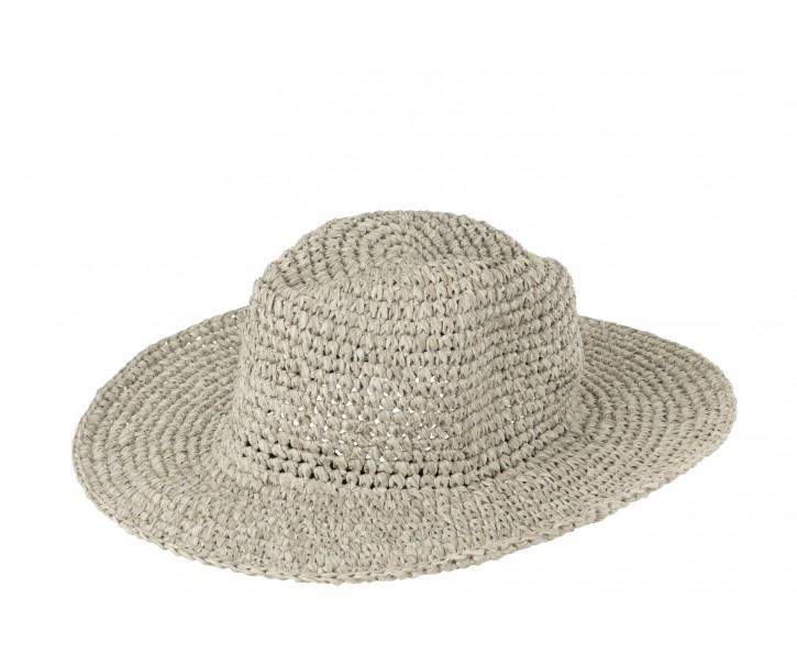 Šedý plážový klobouk Party - 36*33*15cm