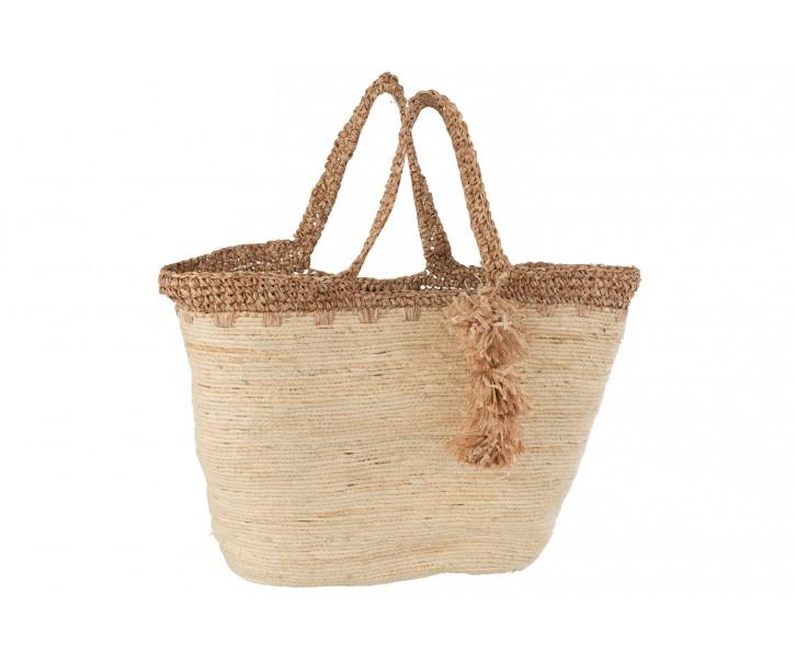 Přírodní taška / kabela z mořské trávy s lemem Maize - 48*25*58cm