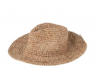 Béžový plážový klobouk Maize - 36*33*15cm