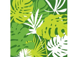 Zelené papírové ubrousky Tropical - 16.5*16.5 cm (20ks)