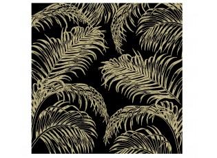 Černo-zlaté papírové ubrousky Palm - 33*33 cm (20ks)