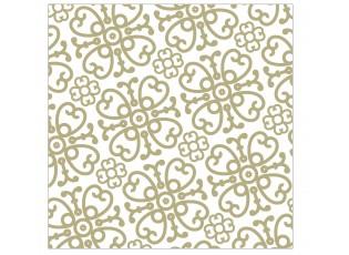Bílo-zlaté papírové ubrousky Ornament - 33*33 cm (20ks)
