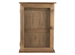 Hnědá dřevěná skříňka na klíče - 28*9*40 cm