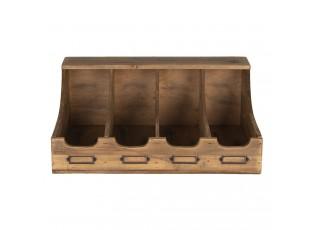 Hnědý dřevěný zásobník Hermosa - 40*28*17 cm