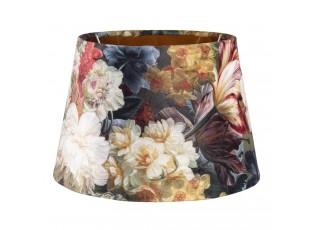 Květované sametové stínidlo Carina - Ø 24*16 cm