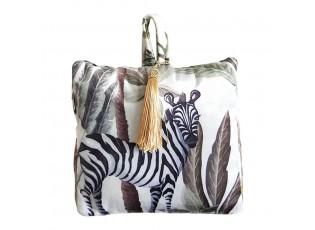 Dveřní sametová zarážka Jungle Zebra - 17*10*18cm