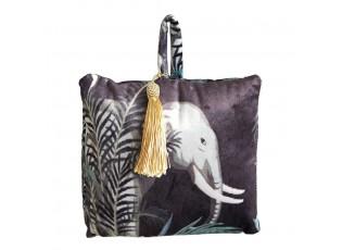Dveřní sametová zarážka se slonem Jungle Elephant - 17*10*18cm