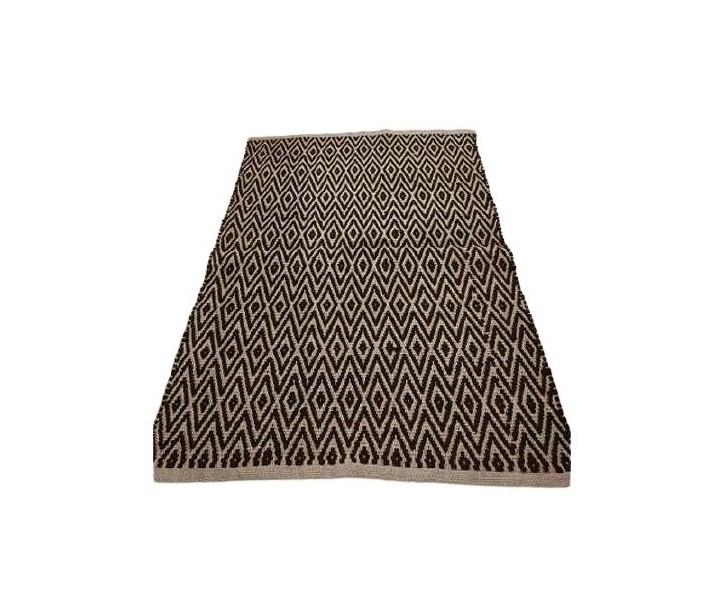 Přírodní jutový koberec s černým Diamond vzorem - 120*180cm