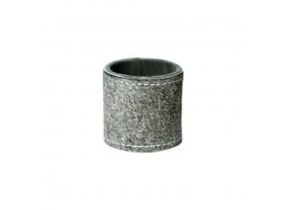 Kroužek na ubrousky z hovězí kůže Grey - 5*3cm