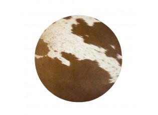 Kulaté prostírání z hovězí kůže - 38*38*1cm