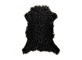 Černá kudrnatá jehněčí kožešina - 60*70*5 cm