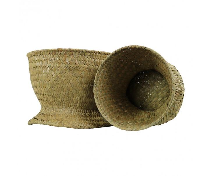 Dekorativní pletené košíky z mořské trávy ( sada 2 ks ) - 22*16 / 16*13 cm