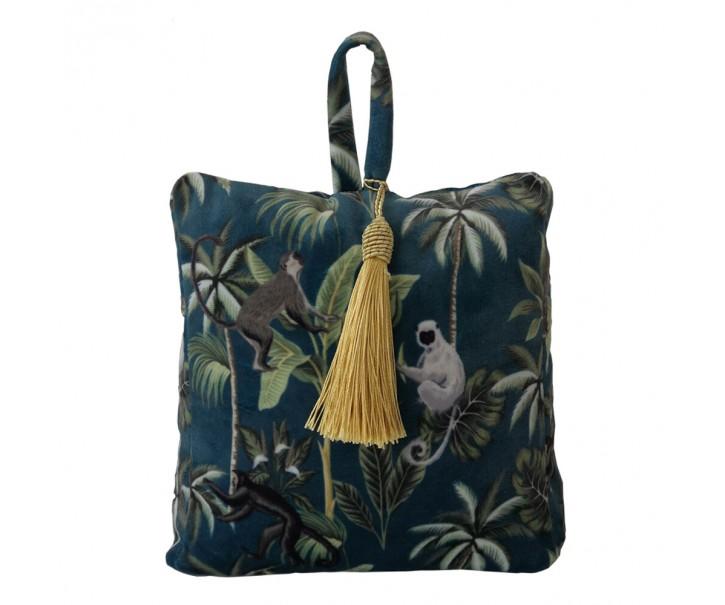 Dveřní sametová zarážka Jungle s motivem džungle - 17*10*18cm