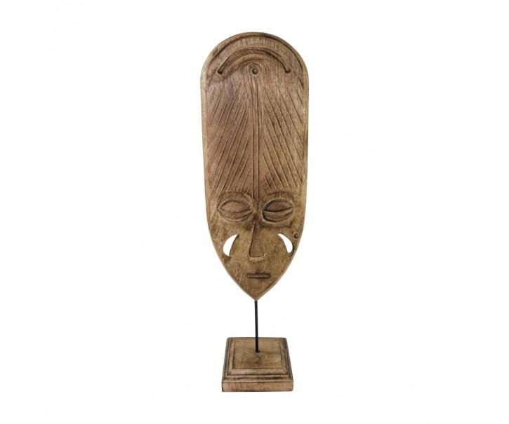 Dekorativná vyřezávaná maska Lumba z mangového dřeva - 58cm