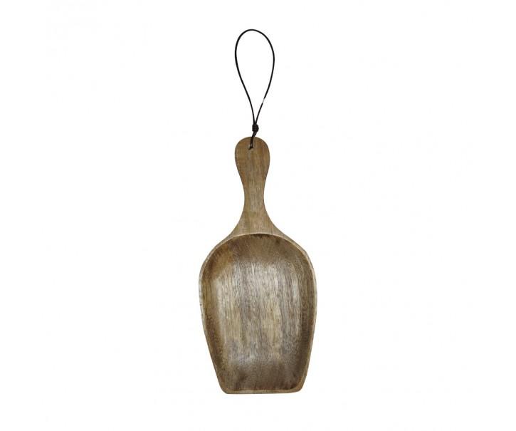 Široká lopatka na koření nebo pochutiny z mangového dřeva
