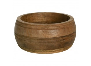 Vyřezávaná miska z mangového dřeva Mango - 15*15*9,5cm