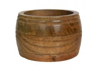 Vyřezávaná mísa z mangového dřeva Mango - 20*20*9,5cm
