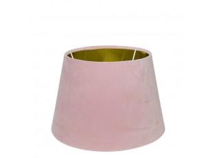 Semišové růžové stínidlo Bock 25cm - 18* 25* h16cm