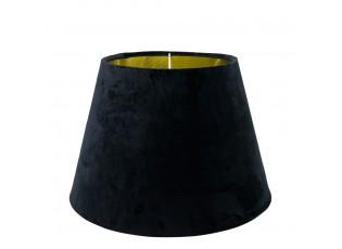 Černé sametové stínidlo Dia 30cm - 20* 30* h21cm