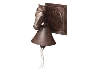 Litinový zvonek Kůň - 12*17*19cm