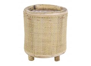 Kulatý bambusový květináč na nožičkách Bamboo - Ø17*18 cm