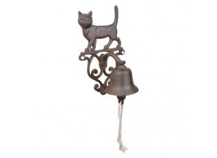 Litinový zvonek Kočka - 14*13*24cm