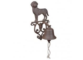 Litinový zvonek Pes - 14*13*25cm