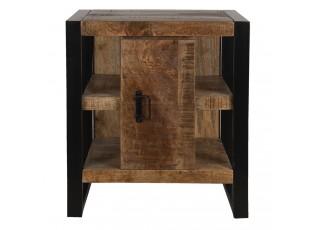 Odkládací stolek Decor s poličkami a skříňkou - 60*40*70 cm