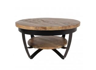 Dřevěný konferenční stolek Ruby s kovovou konstrukcí - Ø 65*35 cm