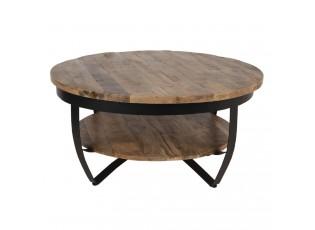 Dřevěný konferenční stolek Ruby Max s kovovou konstrukcí - Ø 90*45 cm