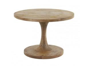 Kulatý dřevěný bistro stolek Bicaba - Ø60*36 cm
