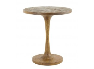 Kulatý dřevěný bistro stolek Bicaba - Ø50*55 cm