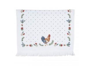 Kuchyňský bílý ručník s kohoutkem - 40*66 cm