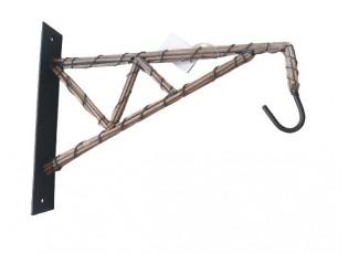 Závěsný kovový hák s dřevěným obmotáním - 30*4* 36cm