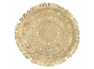 Jutový pletený kobereček - Ø 120*2cm