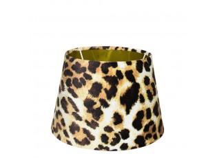 Sametové stínidlo s motivem leopardí kůže a zlatým vnitřkem - 18*25*h16cm