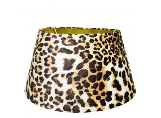 Sametové stínidlo s motivem leopardí kůže - 33*45*h25cm