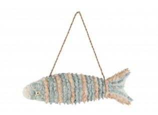 Závěsná dekorace rybky z mušliček - 40*7*14 cm