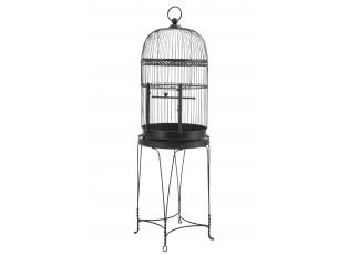 Černá kovová dekorativní klec pro ptáčky  - 54,5*54,5*175,5 cm