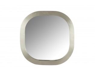 Čtvercové zaoblené stříbrné zrcadlo - 61*6*61 cm