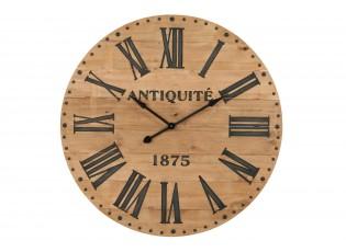 Hnědé hodiny Antiquité s římskými číslicemi - 110*6*110 cm