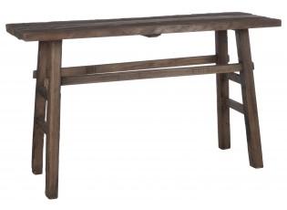 Hnědá dřevěná lavice - 140*50*85 cm