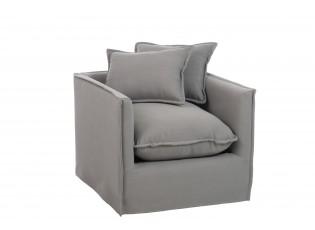 Šedé křeslo Grey s polštáři - 76*84,5*65 cm