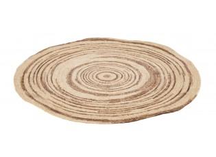 Přírodně-hnědý kulatý koberec z mořské trávy - Ø 79 cm