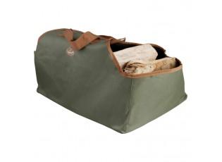 Zelená taška / přenosný vak na dřevo - 59*39*38cm