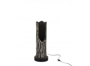 Stojací dřevěná lampa Paulownia Black 1 - Ø 20*51 cm